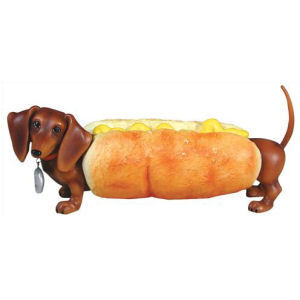 Hot Diggity Dog Hot Dog Figurine