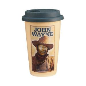 John Wayne 12 Ounce Double Wall Ceramic Travel Mug
