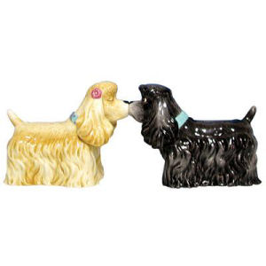 Westland Giftware Mwah! American Cocker Spaniels Kissing Salt and Pepper Shakers