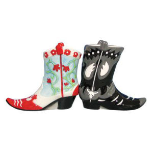 Westland Giftware Mwah! Cowboy Boots Salt and Pepper Shakers