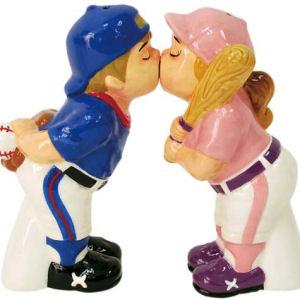 Westland Giftware Mwah! Baseball Players Salt and Pepper Shakers