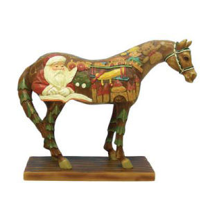 The Trail of the Painted Ponies Wooden Toy Horse Figurine
