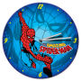 Amazing Spider-Man 13.5 Inch Cordless Wood Wall Clock. Quartz movement wood cordless wall clock. Requires 1 AA battery. Open face color box packaging.