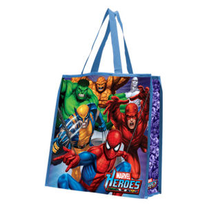 Marvel Heroes featuring Spiderman Large Recycled Shopper Tote