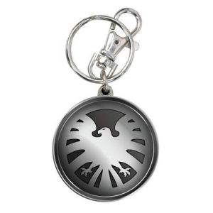 Avengers SHIELD Eagle Logo Pewter Key Chain