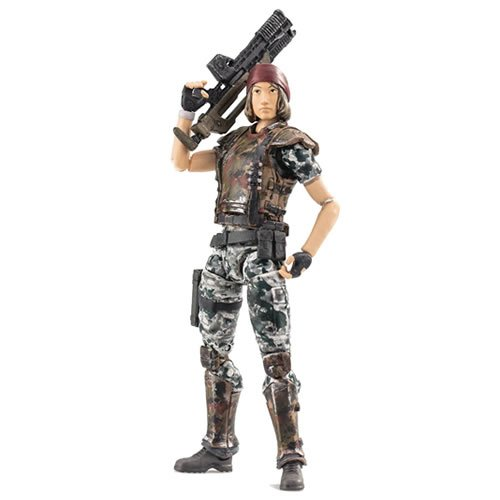 Aliens CM Private Jennifer Redding 1/18th Scale Exclusive Action Figure. Based on the Aliens: Colonial Marines video game. Comes with Multiple accessories and display base. Features Full articulation.
