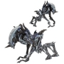 Aliens Ultimate Rhino Alien (Kenner Tribute) Version 2 7 Inch Scale Action Figure. Rhino Alien measures approximately 10 Inches and has a massive ramming horn for attacking its unlucky prey.