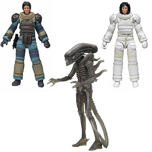 Alien 40th Anniversary Series Assortment #04  7 Inch Scale Action Figures Case. Case includes 12 7 Inch scale action figures.