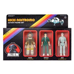 Alien USCSS Crew Set ReAction 3.75 Inch Retro Action Figure Set 1 of 3
