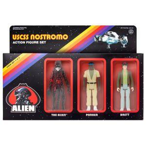 Alien USCSS Crew Set ReAction 3.75 Inch Retro Action Figure Set 2 of 3