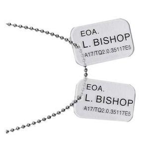 Aliens Bishop Dog Tags Prop Replica