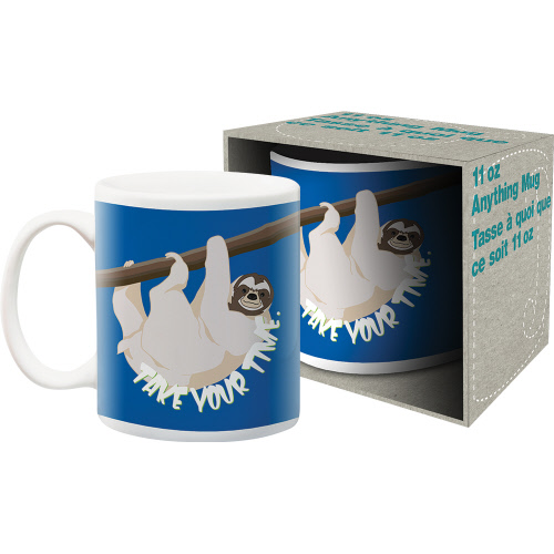 Sloth Take Your Time 11 Ounce Boxed Mug.