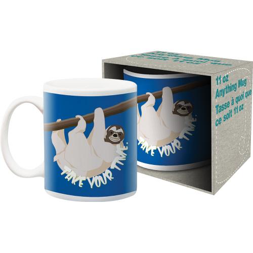 Sloth Take Your Time 11 Ounce Boxed Mug
