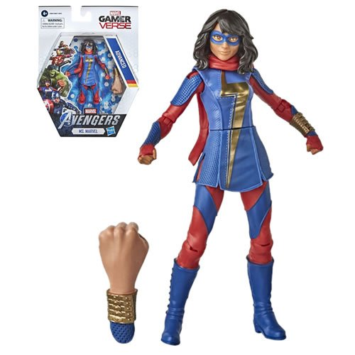 Marvel Gamerverse 6 inch Ms. Marvel Action Figure. Action figure measures 6 inches tall and comes with Character Specific accessories.