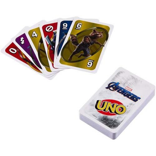 Marvel Avengers Uno Card Game.