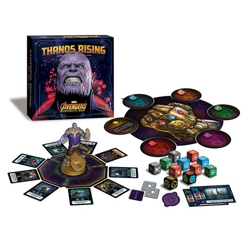 Thanos Rising: Avengers Infinity War. In the game, players will recruit heroes and assemble a team to face off against Thanos and his villainous forces in an effort to thwart him from accomplishing his master plan - collecting all six Infinity Stones to p
