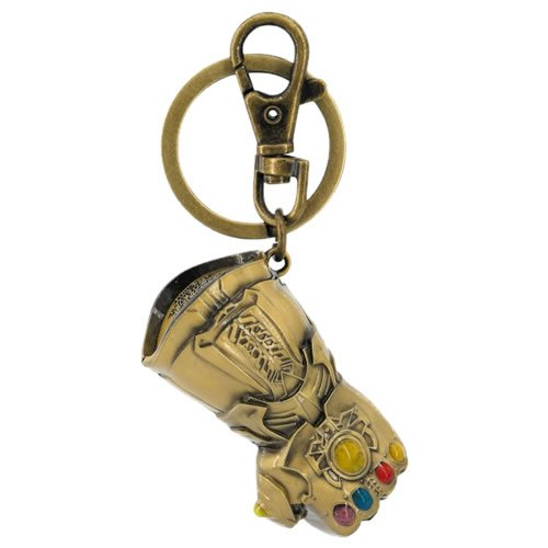 Avengers Infinity War Infinity Gaunlet Gold Pewter Key Chain