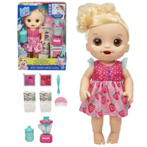 Baby Alive Dolls Magical Mixer Baby Strawberry Shake (Blonde)