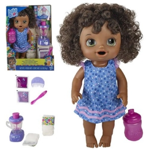 Baby Alive Dolls Magical Mixer Baby Blueberry Blast Shake (African American)