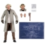 Back To The Future Ultimate Doc Brown (BTTF2) 7 inch Scale Action Figure. Ultimate Doc Brown is based on his 1955 appearance in Back to the Future with 2 interchangable heads portraying a generic expression and the iconic shocked expression.