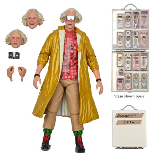 Back To The Future Ultimate Doc Brown 7 Inch Scale Action Figure. Doc Brown from the 2015 Back to the Future 2 movie.