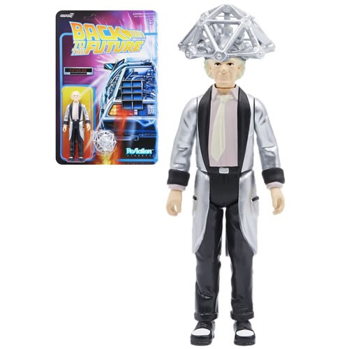 Back To The Future 1950s Doc Brown ReAction 3.75 Inch Retro Action Figure
