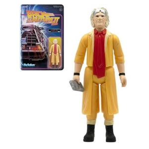 Back To The Future 2 Doc Brown (Future) ReAction 3.75 Inch Retro Action Figure