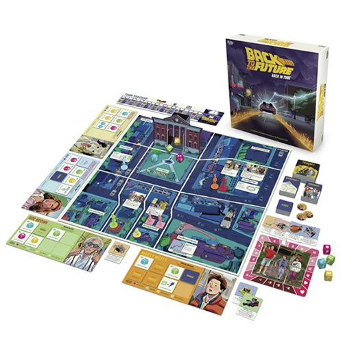 Back To The Future Back In Time Game. Doc Brown, Marty McFly, Jennifer Parker, and Einstein the dog were sent back to 1955!