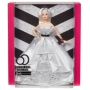 Barbie 60th Anniversary Doll. For 60 years Barbie has inspired imagination in fans all over the world. Commemorate her diamond anniversary with this collectible Barbie doll wears a cascading ball gown twinkling with silvery sparkles.