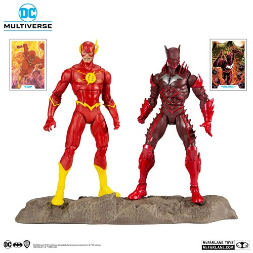 DC Multiverse Dark Nights Metal Earth -52 Batman And The Flash 7 Inch Scale Action Figures Multipack.  Batman Earth -52 figure based on the Dark Nights: Metal comic event.