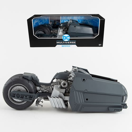 DC Multiverse 7 Inch Scale Batman: White Knight Batcycle. Batcycle perfectly pairs up with McFarlane Toys Batman figure from Batman: White Knight #1. (Sold separately.)