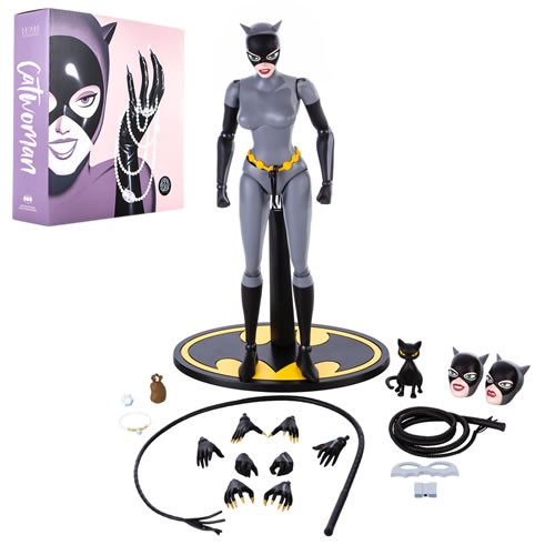 Batman The Animated Series 1/6 Scale Catwoman (Regular Edition) Action Figure. Designed by Joe Allard, sculpted by Ramirez Studios, and painted by Jason Wires Productions, the figure features packaging designed by Brent Ashe with art by Phantom City Creat