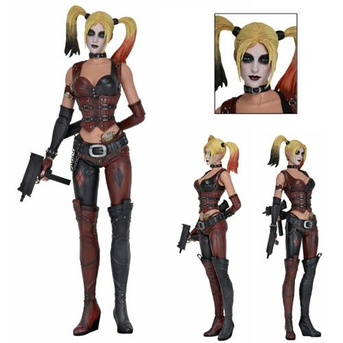Batman Arkham City Harley Quinn 1/4 Scale Action Figure. Harley stands 18 inches tall and features over 25 points of articulation and a metal wallet chain.