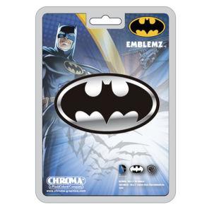 Batman Logo Chrome Injection-Molded Emblem