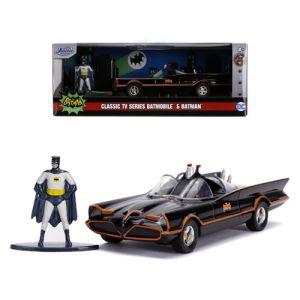 Hollywood Rides 1:32 Scale Diecast DC Comics Batman 1966 Classic TV Series Batmobile with Batman Figure