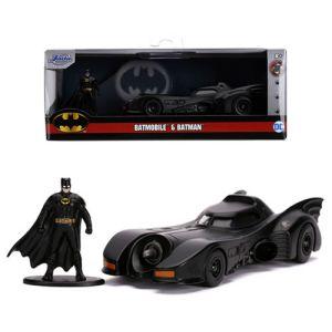 Hollywood Rides DC Comics Batman (1989 Movie) 1:32 Scale Diecast Batmobile with Batman