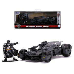 Hollywood Rides DC Comics Justice League Movie 1:32 Scale Diecast Batmobile with Batman Figure