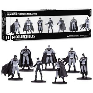 Batman B&W Mini PVC Figure 7 Pack Group 1