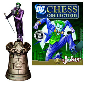 DC Superhero Joker King Chess Piece with Collector Magazine