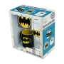 DC Comics Batman Glass - Coaster and Batman Mini Mug Set. Set contains (1) 3.5 oz espresso mug, (1) 10 oz. glass, and (1) coaster. Espresso mug and glass are dishwasher-safe.Coaster has a cork backing.