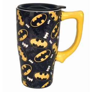 Batman Logo 16 Ounce Ceramic Travel Mug