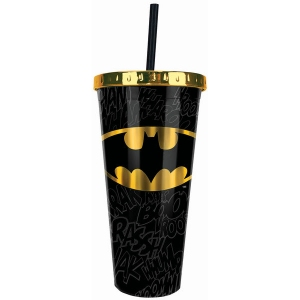 Batman Foil Cup with Straw