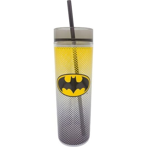 Batman 16 Ounce Tall Cup with Straw.