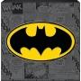 Batman Box Sign. Features batmans logo on a collage background.