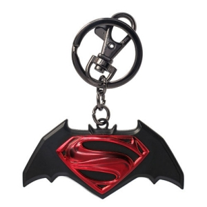 DC Comics Batman Vs Superman Colored Logo Pewter Key Chain