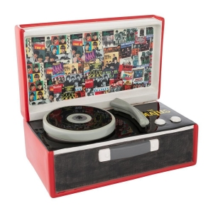The Beatles Singles Collection Record Player Sculpted Ceramic Cookie Jar