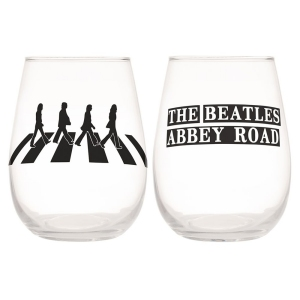 The Beatles Abbey Road 2 piece 18 ounce Contour Glass Tumbler Set