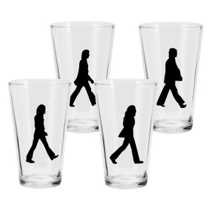 The Beatles Abbey Road 4 piece 16 Ounce Glass Set
