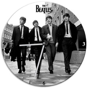 The Beatles 13.5 Inch Cordless Wood Wall Clock