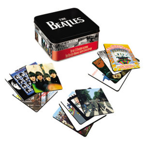 The Beatles Set of 13 Album Cover Coaster Set with Collectors Tin